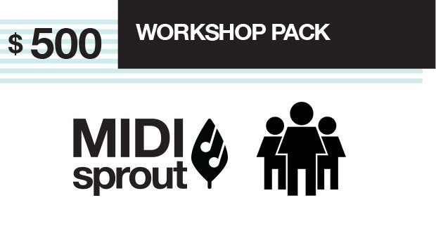 Parts and instructions to assemble 10 MIDI Sprout kits. Use this for a class or workshop on biodata sonification.