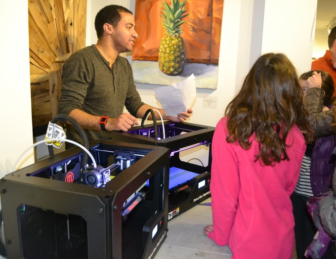 3D printers attract and engage curious kids.
