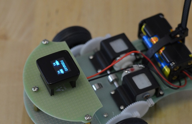 The MicroView can be the brains of your next Robot!