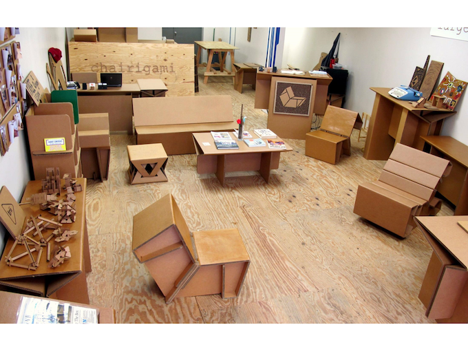 At Chairigami I Began By Designing And Inventing Cardboard Furniture For Both Yale Students The New Haven Community Producing Everything From Beds To