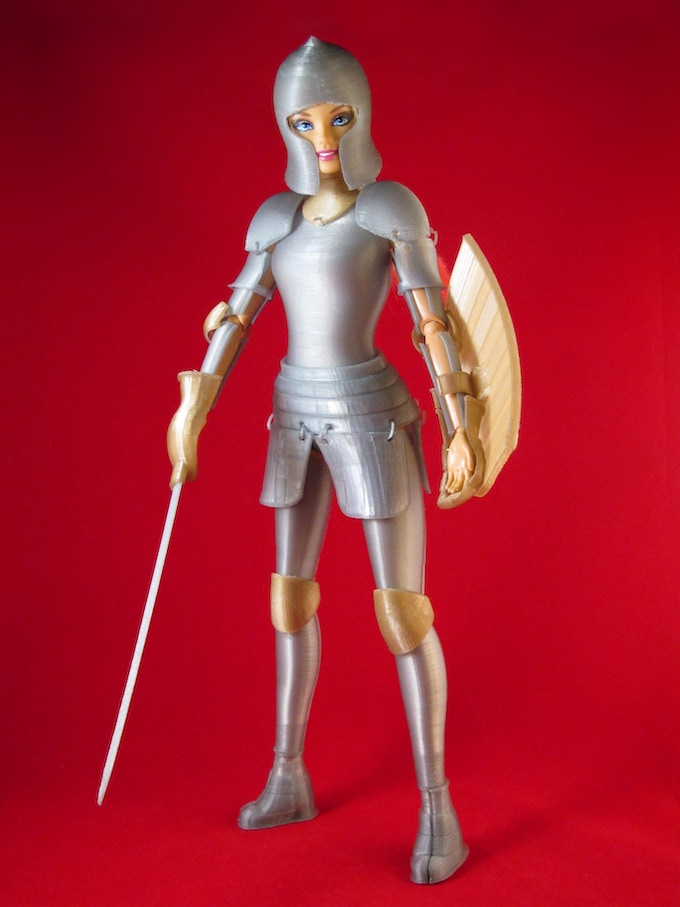 Faire Play: Barbie-Compatible 3D Printed Medieval Armor by