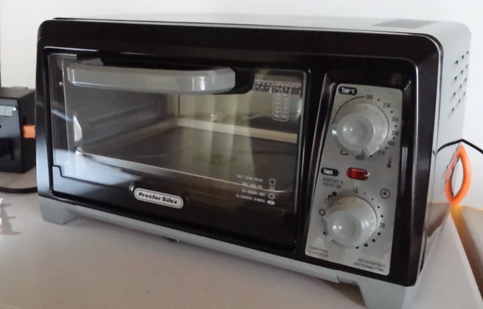 Basic $25 Toaster Oven which we've been using