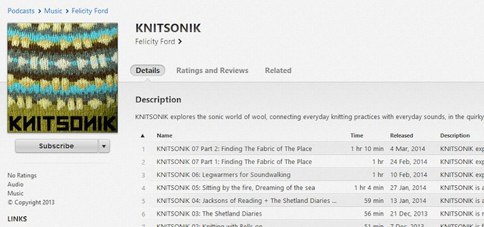 The KNITSONIK podcast at knitsonik.com