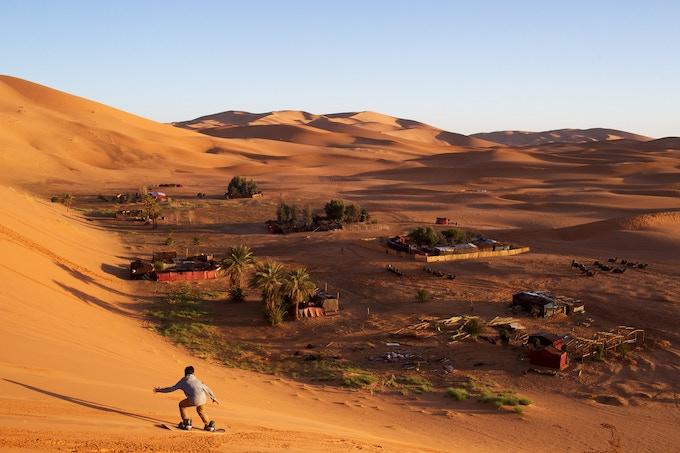 Sandboarding | Sahara Desert, Morocco