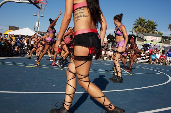 Lingerie Basketball | Venice Beach, California
