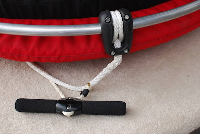 Custom free-held handle and safety pulley with bearings.