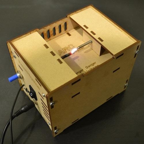 Assembled ARC Plasma Speaker
