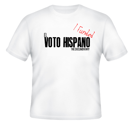 Voto Hispano White Tee  - Option 2