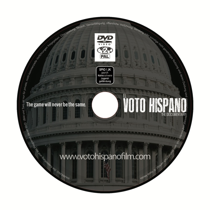 "Special Edition Director's Cut DVD copy of ""EL VOTO HISPANO"""