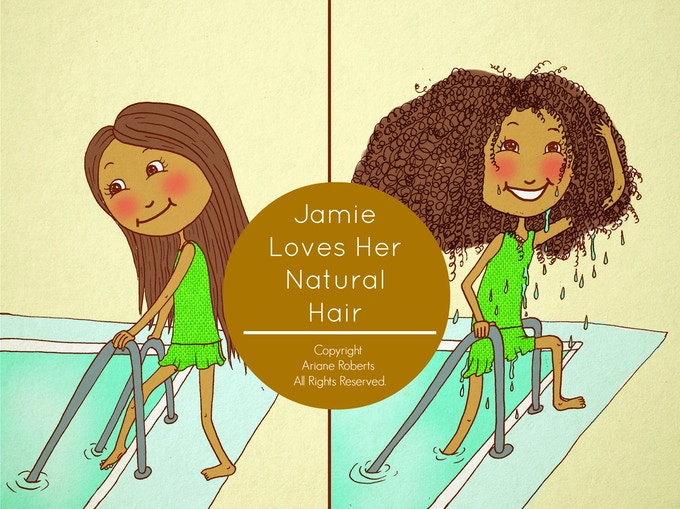 Children's Story Book: Jamie Loves Her Natural Hair by ...