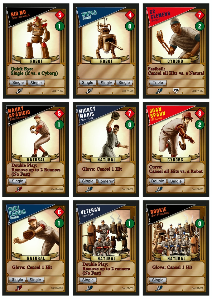 Baseball Highlights 2045 New Card Game By Mike