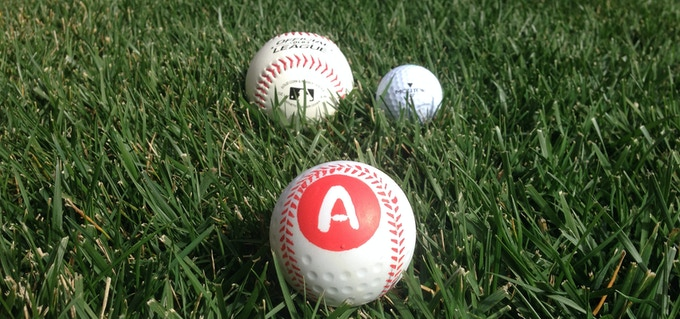 Basegolf - the love child between baseball and golf ball