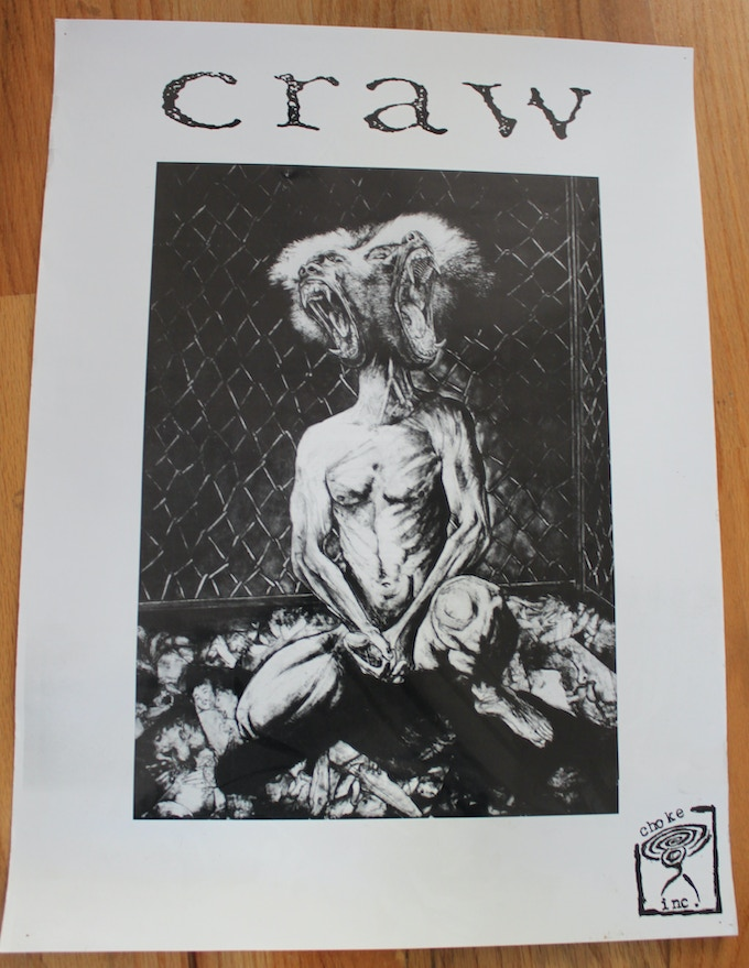 "Craw poster - ""Baboon head"""