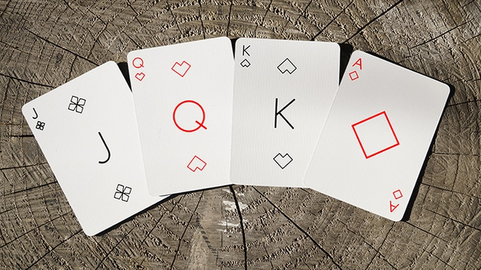 The Jack of Clubs, Queen of Hearts, King of Spades and Ace of Diamonds