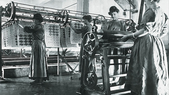 The drying of the cards