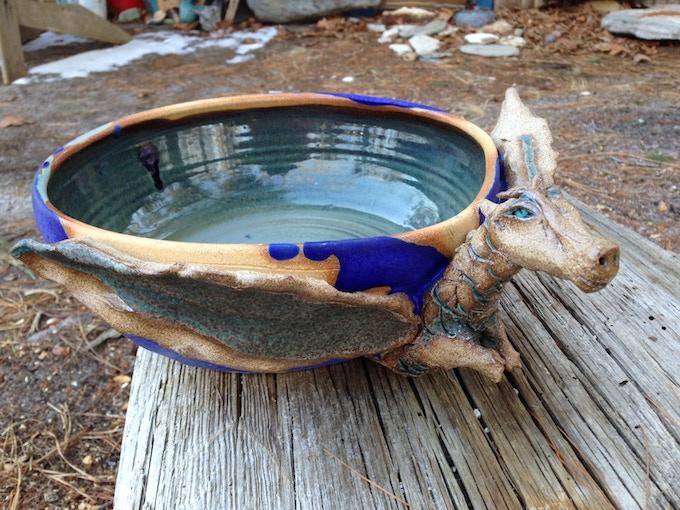 Pottery by William O Callaghan.Dragon.Reward #10