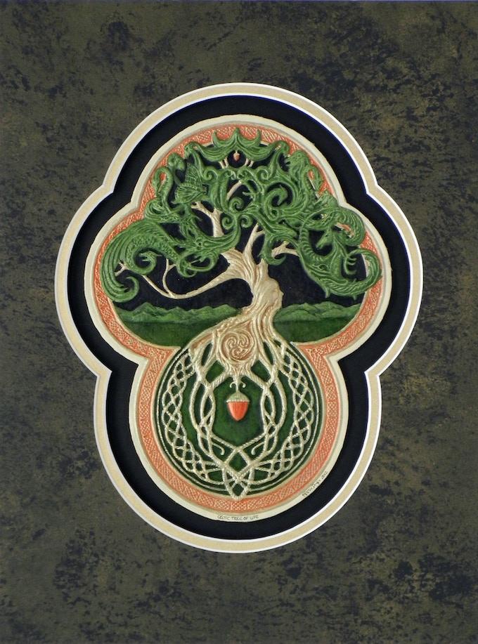 Celtic Tree Of Life Art Tapestry By Kevin Dyer Kickstarter