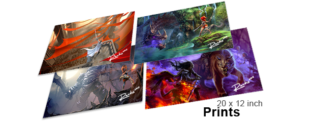 Beautiful high quality photo paper Art Prints of images and illustrations from Dragon Fin Soup!
