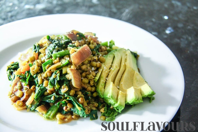 The mung bean dish I ate every day