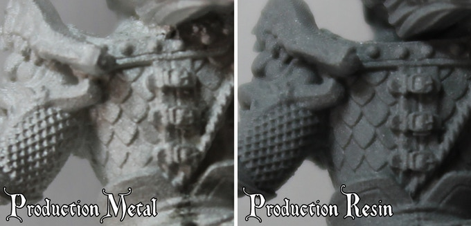 At the moment the ONLY way to get the Resin Models is via the Kickstarter.  We may be looking at exclusive diorama pieces in Resin post Kickstarter - TBC.