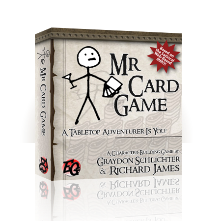 Richard is famous for his work on the Kingdom of Loathing card game.