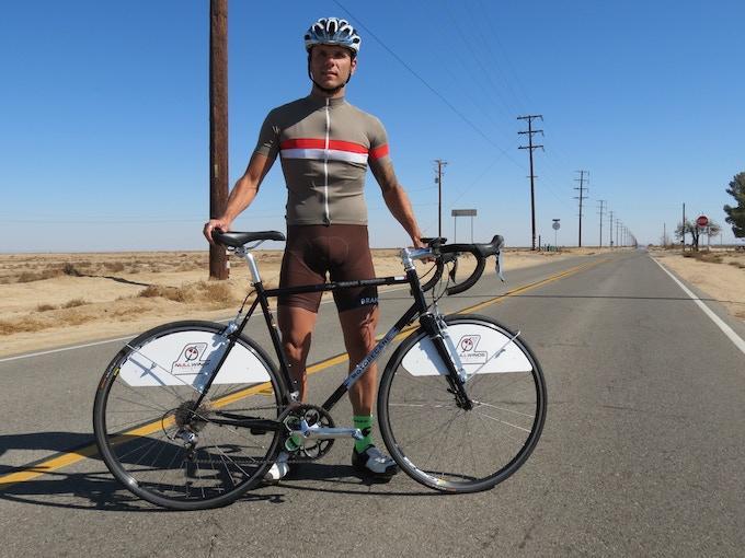 Steel-framed road-test bike with 32 spoke-count wheels