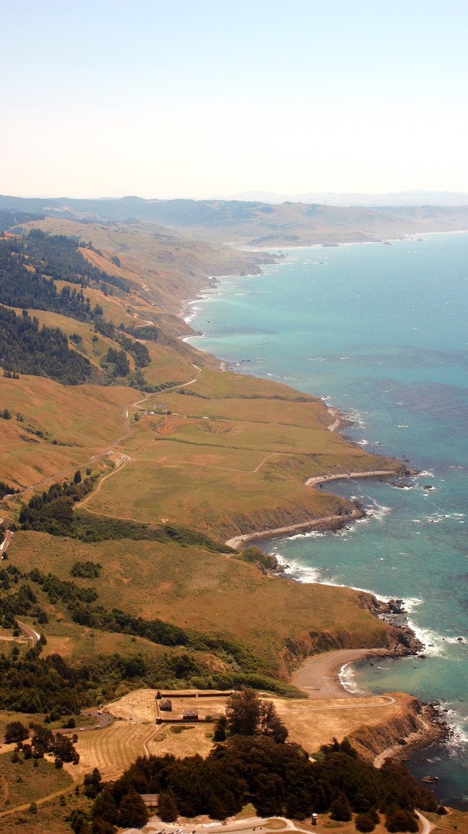 The coastline just north of San Francisco