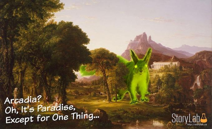 Based on Thomas Cole's Dreams of Arcadia