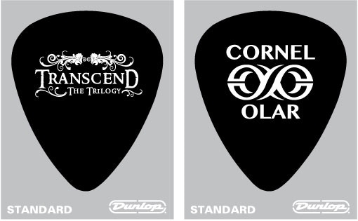 TRANSCEND Guitar Pick (Double Sided Design) (Dunlop Ultex Sharp)
