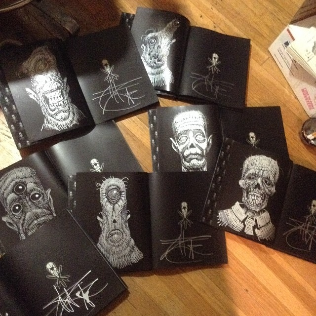 """Sketched & Signed """"Black Magick"""" Books"""