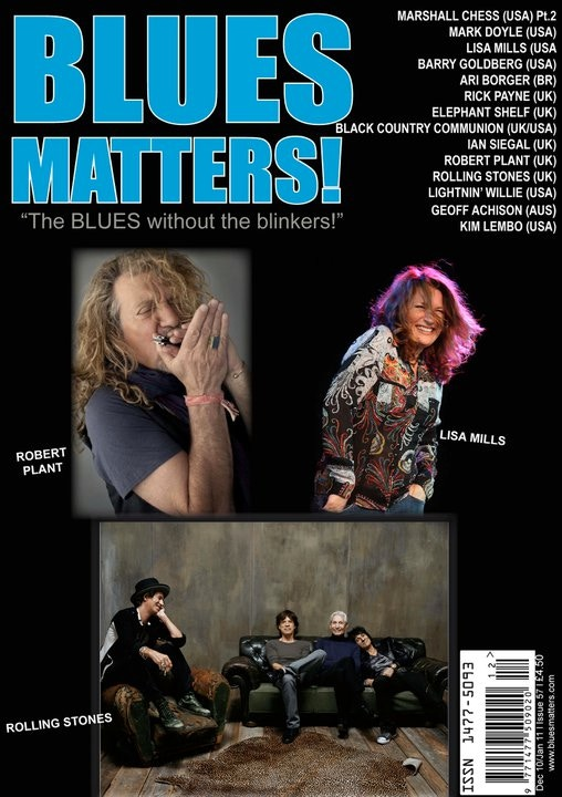 Rare copy of Blues Matters with Lisa on the cover