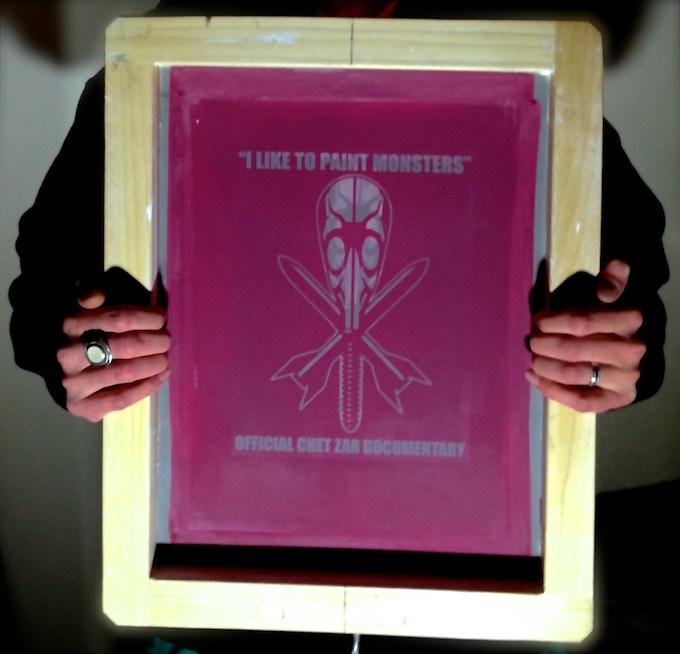 "Director Mike Correll holding ILTPM ""Classic"" Series Silkscreen"