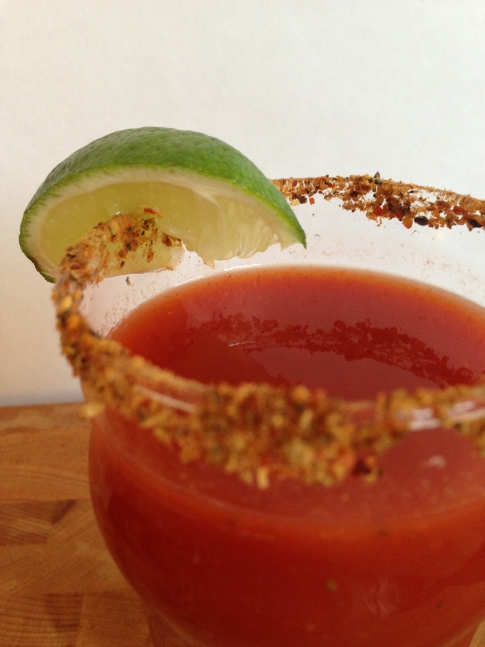 our bloody mary, aka, bloody mei & mo mix is delicious