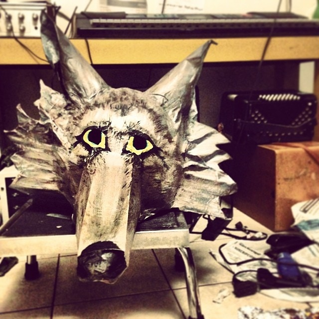 Coyote Paper Maché Mask by Tylana Enomoto