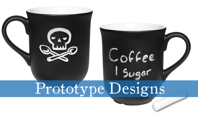Mugs!  Emblazoned with our Skull and Cross-Spoons!