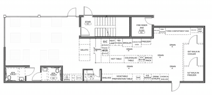 Morty's Cafe Interior Space Layout