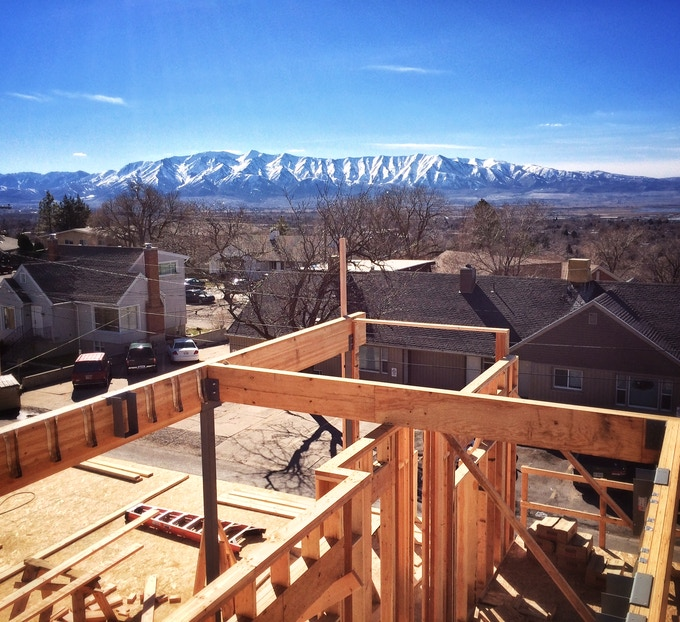 View of Cache Valley from the Morty's Cafe Balcony