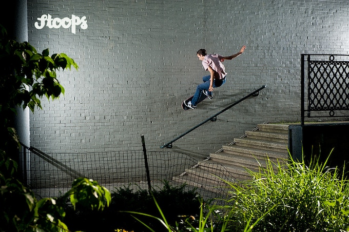 Ryan Lay - FS Wallride. Manhattan. Photo by Allen Ying.