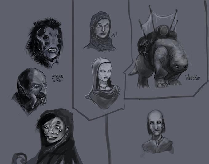 Concept sketches (art by Juan Ochoa)