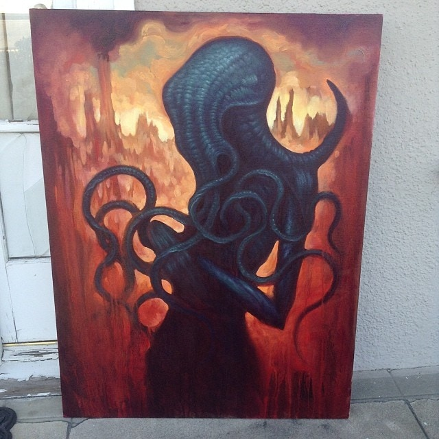 """""""Cthulhu"""" Oil Painting"""