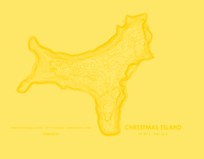 Initial prototype for Christmas Island cover spread