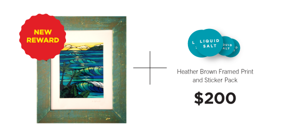 Heather Brown Wood framed Giclee print.