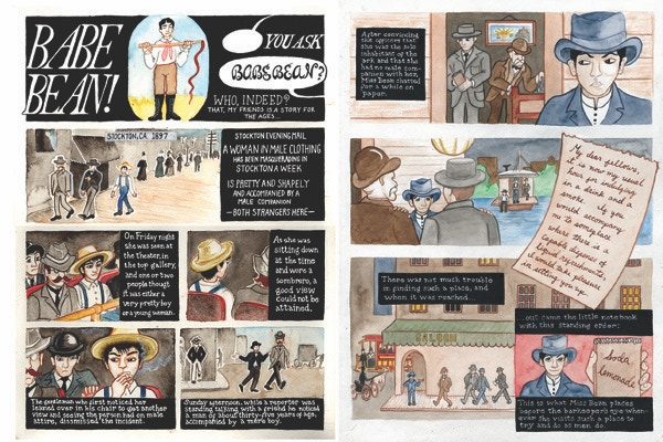 """Details from Gay Genius' """"Truth: Stranger Than Fiction"""" by Annie Murphy. Given 'honorable mention' in 'America's Best comics, edited by Francoise Mouly."""