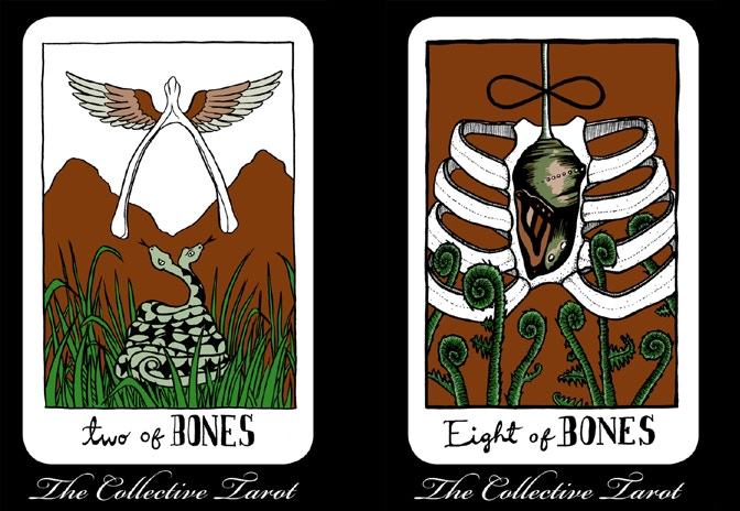 ^ $12 Reward: Pick a full color 11'x17' poster! Originally drawn by Annie murphy for the Collective tarot