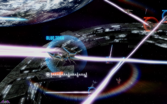 Battle rages around a spacestation