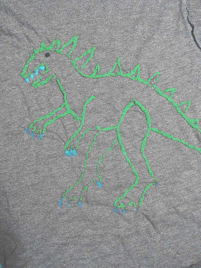 Image for 180 pounds reward - hand embroided t-shirt!