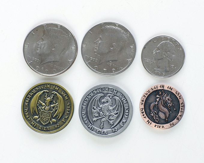 Size Comparison of our coins.