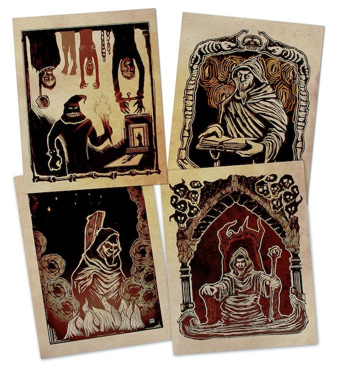 Original woodprint style artprints