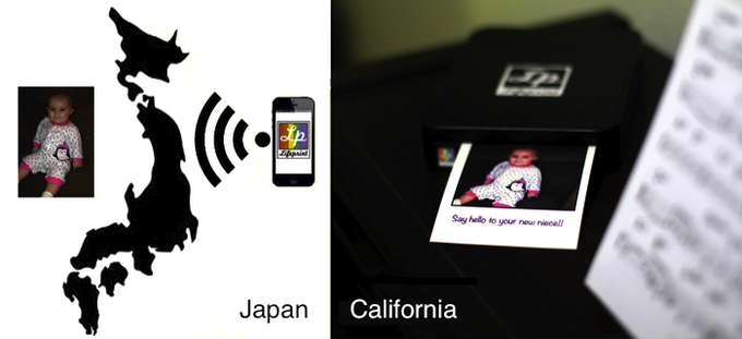 Instantly share photos across great distances with just the click of a button