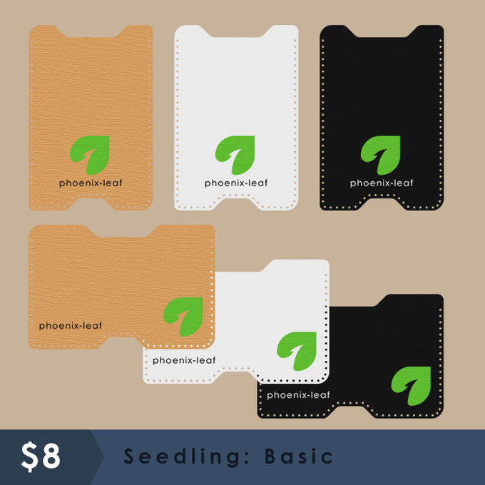 Seedling: Basic - 3 color options & Tall or Wide - Hemp cord color matches with material choice.